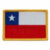 Parche Bandera de Chile con Borde Dorado